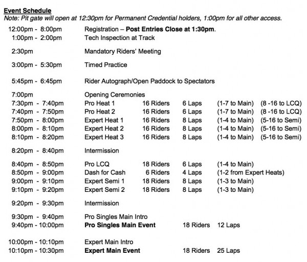 2013-AMAP-FT-Indy-Mile-Schedule-8-13