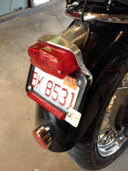 Low Profile Lucas Style Tail Light Installed
