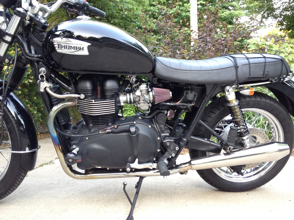 Airbox Removal Kit Day One Triumph Bonneville A Personal Moto Blog 2014 Thruxton Wiring Diagram Conversion Completed