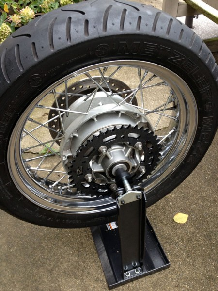 Balancing rear tire and wheel