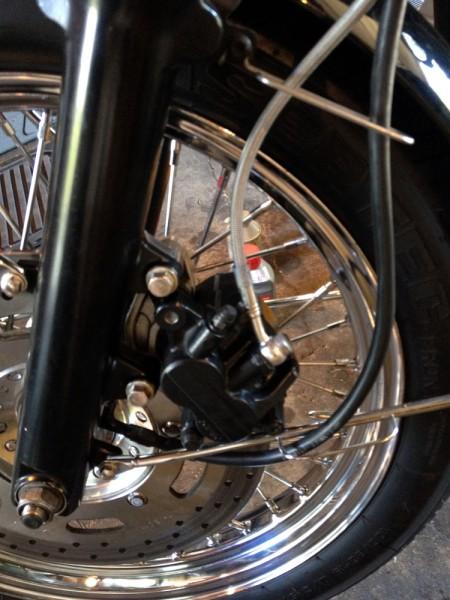 New front Spiegler stainless steel brake line