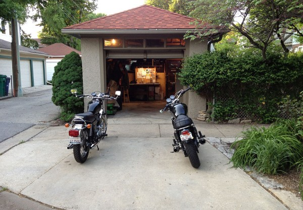 Two Motorcycle Garage No More