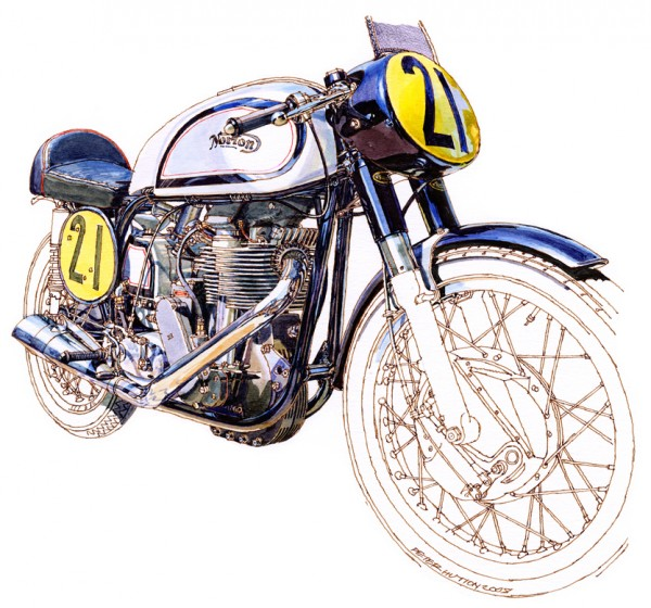 1959 Manx Norton Watercolor Illustration