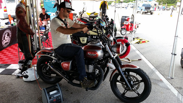 The award winning Motoworks Chicago Custom Triumph Speedmaster