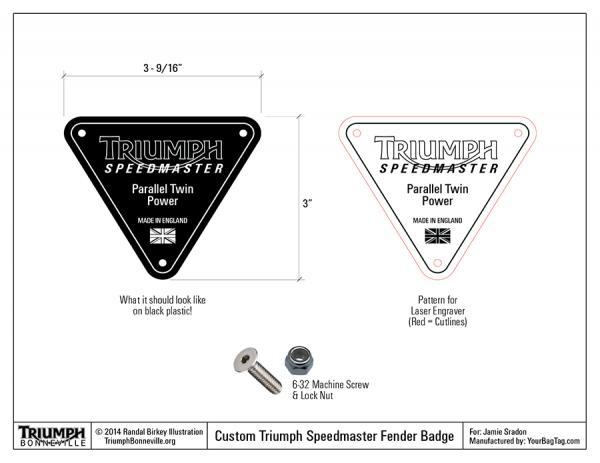Triumph-Speedmaster-Fender-Badge