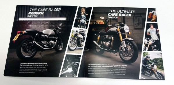 New Bonneville Sales Booklet - Thruxton Spread