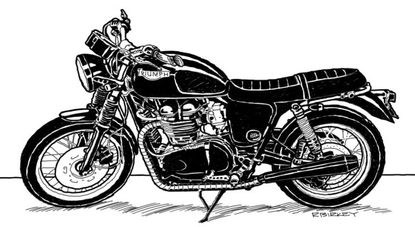 Bonneville Line Art Sketch