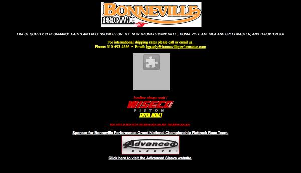 Soft launch of a new Bonneville Performance website
