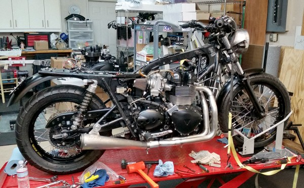 Bonneville Performance 2 into 1 stainless steel exhaust system