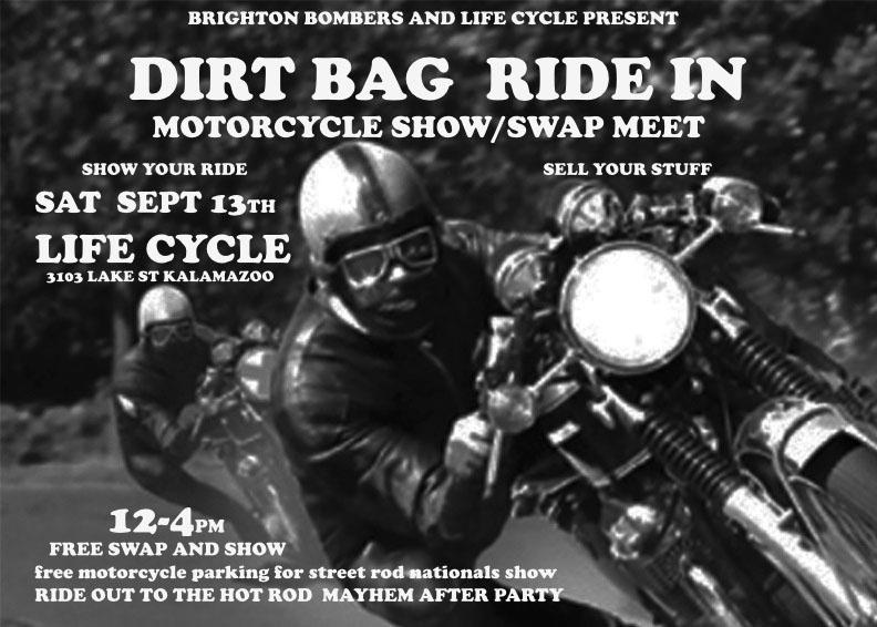 Dirt Bag Ride In – Motorcycle Show & Swap Meet