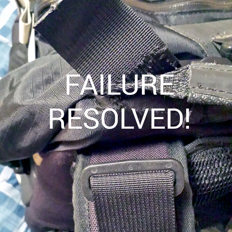 Triumph Branded Kreiga R30 Backpack Fail