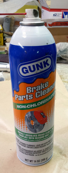 Gunk brand brake and parts cleaner