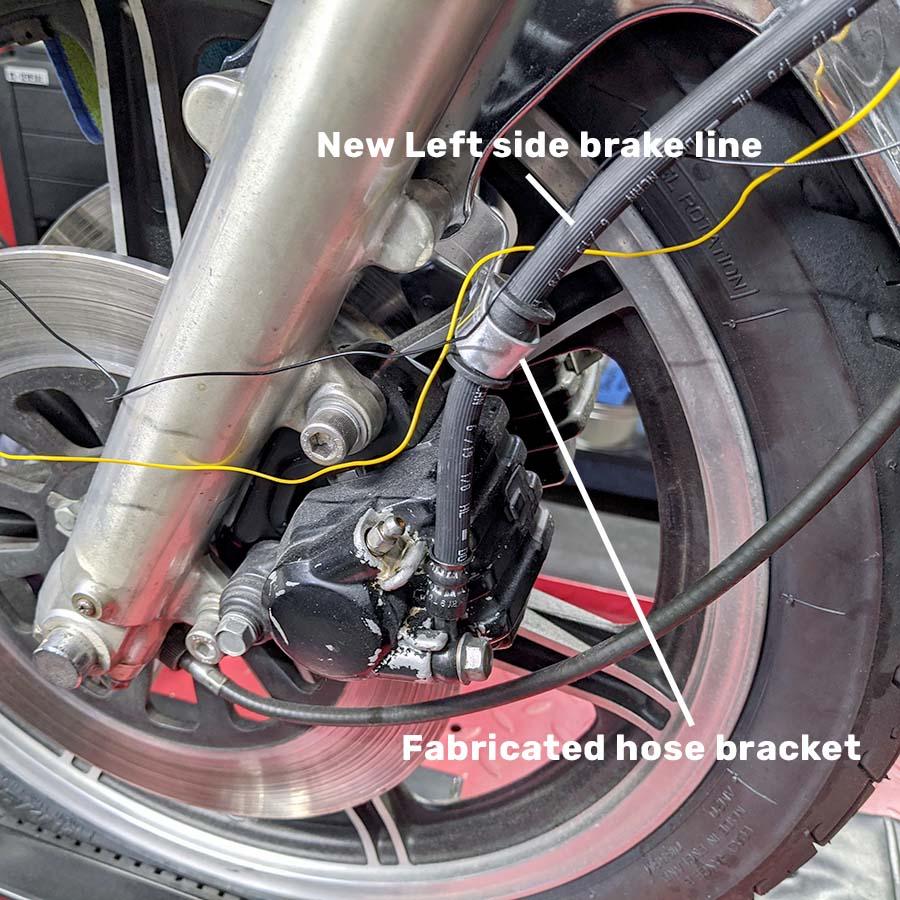 new left front brake line