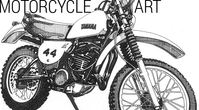 1951 Norton Manx Illustration
