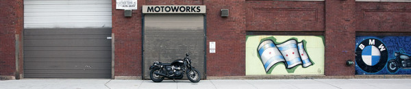 Bonnie at MotoWorks Chicago - street view