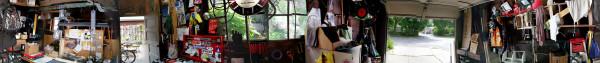 Panorama view of Randy's Garage