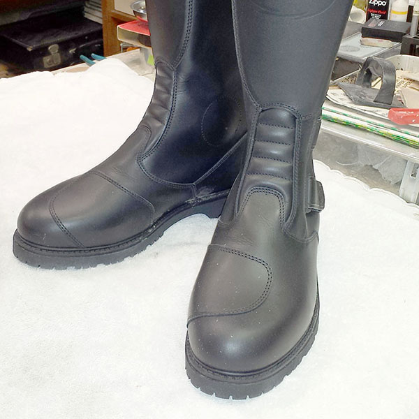 New boots for this old Bonneville rider