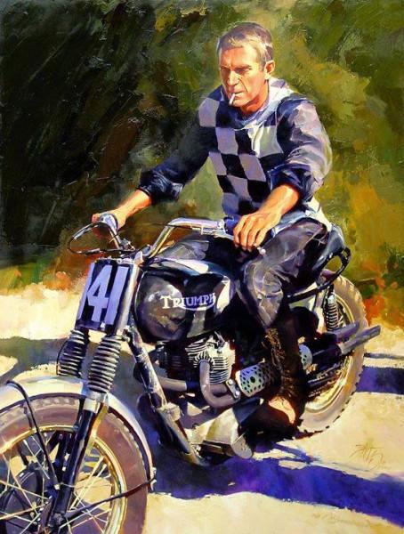 steve-mcqueen-motorcycle-painting
